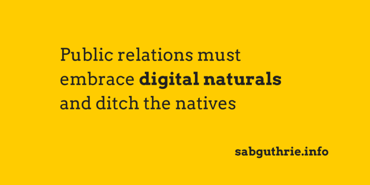 Being digital isn't about using social