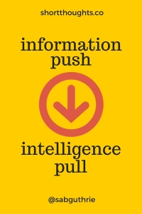 From information push to intelligence pull - short thoughts by http://sabguthrie.info