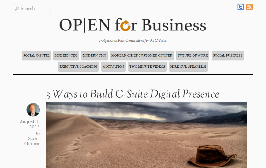 3 ways to build a c-suite digital presence