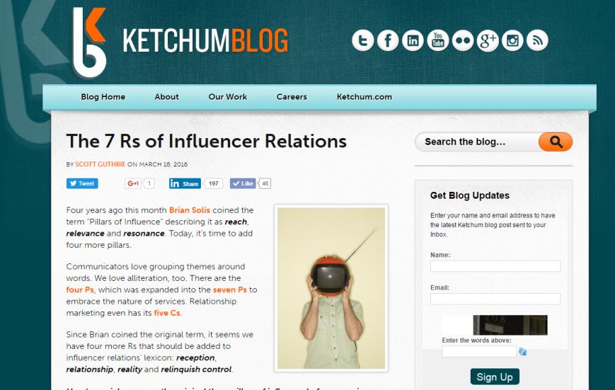 7 Rs of influencer relations Scott Guthrie sabguthrie