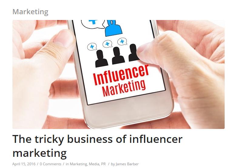 Vuelio the tricky business of influencer marketing scott guthrie sabguthrie