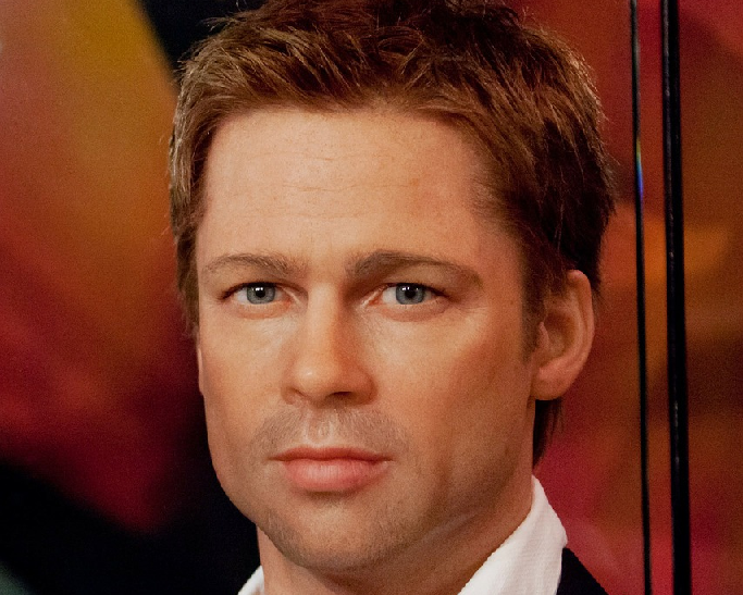 A wax work of Brad Pitt: film stars and pops stars influence is waning compared with YouTube and Instagram influencers